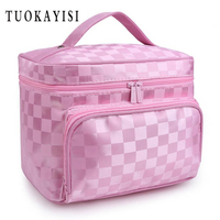 Extra Large Capacity Woman Cosmetic Bags Big Stripe Travel Toiletry Bag Letter Pattern Necessary Organizer Makeup