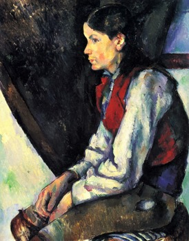 oil paintings,Handmade Oil Painting Reproduction on linen canvas,boy-in-a-red-vest-1890 BY paul Cezanne,Landscape oil painting