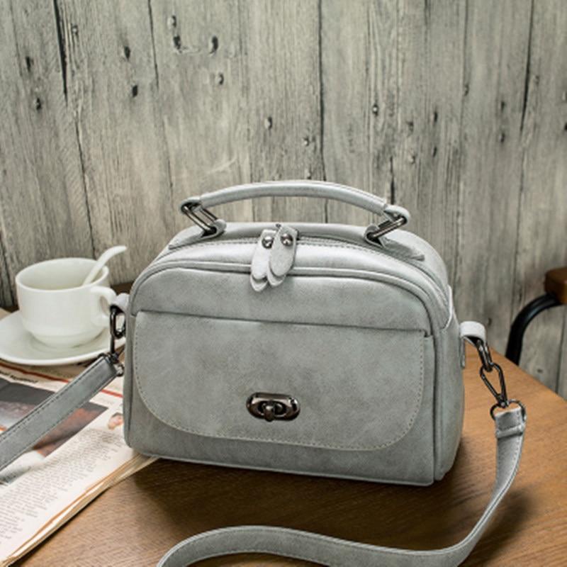 High Quality Numbuck Leather Women Top-Handle bag Fashion lock Women Shoulder Bag Shell Stlye Women Bag