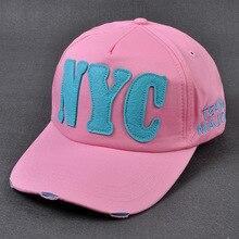 c80d536a36739 Caliente algodón bordado carta Nueva York gorra de béisbol gorras de hueso gorra  sombrero para los hombres de sombreros