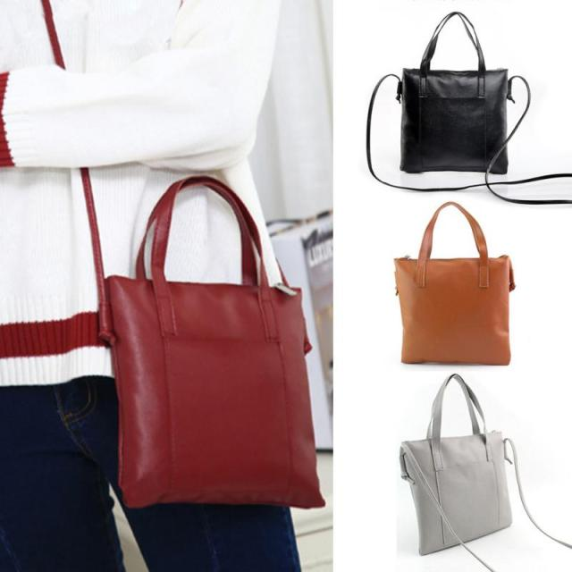 Soft PU Leather Handbags Crossbody Bags for Women 2018 Fashion Shoulder Bag Tote Bag Ladies Messenger Bag Bolsos Mujer Black Red 5