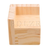 6x6CM Slot L Shaped Wood Furniture Lifter Bed Sofa Table Risers Add 5cm BQLZR