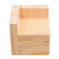 6x6CM Slot L Shaped Wood Furniture Lifter Bed Sofa Table Riser Add 5cm BQLZR