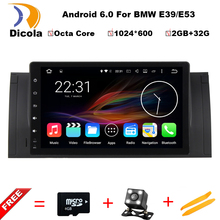 HD 9 Inch Octa 8 Core Android 6.0.1 For BMW E39,X5,M5,E53 Car DVD,GPS,Wifi,4G,Radio RDS,Canbus,1024×600,Support OBD2,DVR