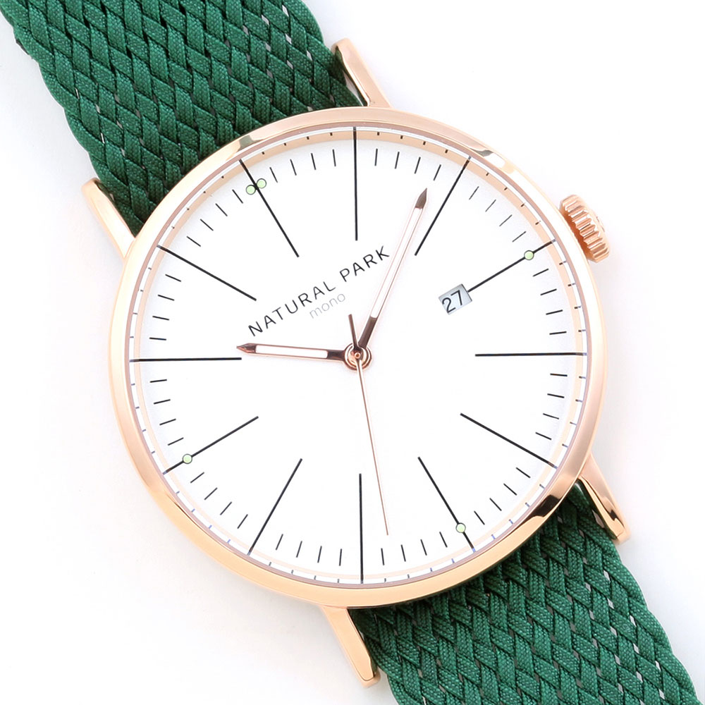 2016 Quartz Men Watch New Fashion Green Nylon Wrist Watches Casual Quartz-Watch Simple Style Wristwatch Relojes Rose Gold Case