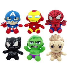 20CM Disney Marvel Avengers Stuffed Animals Plush Dolls Toys Anime Spiderman Hulk Iron Man Captain America Cartoon Doll Kid Gift