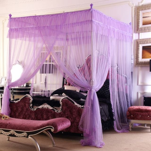 FREE SHIPPING! New arrival royal mosquito net overstretches tube stainless steel three door floor laciness mosquito net