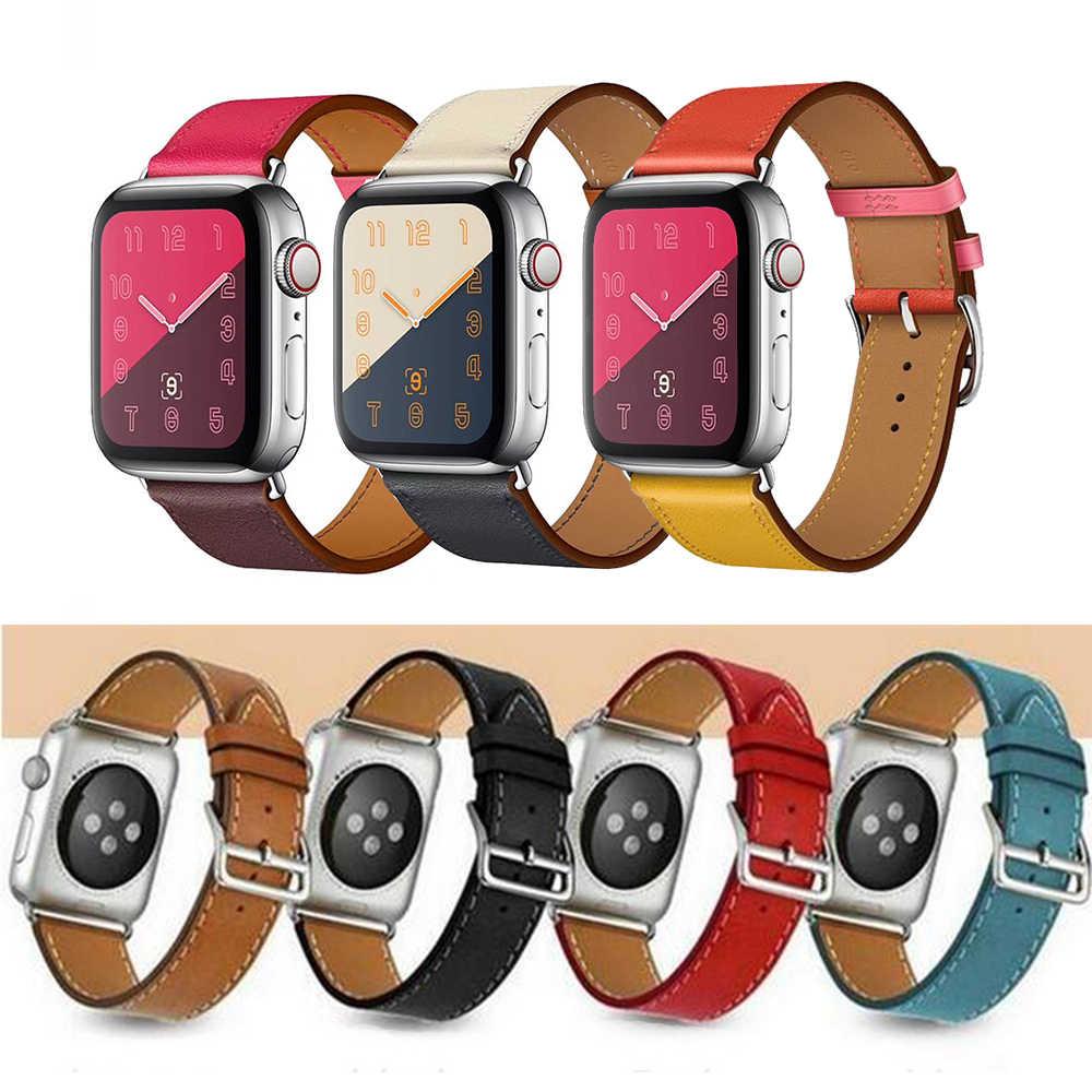 Высокое качество кожаный ремешок для Apple Watch полосы 42 мм спортивный IWatch Группа 38