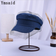 Ymsaid 2019 Spring/ Autumn New Cowboy Lace Female Beret Hat
