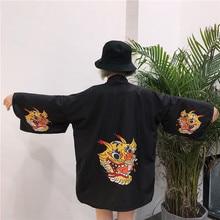 NiceMix 2019 new high quality japanese style streetwear harajuku women robe hiphop personality cardigan kimonos coat clothes