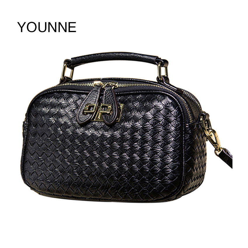 YOUNNE High Quality Women Handbags Metal Short Handle Female Shoulder Bags Medium Women Messenger bags Tote Briefcase Black Pink