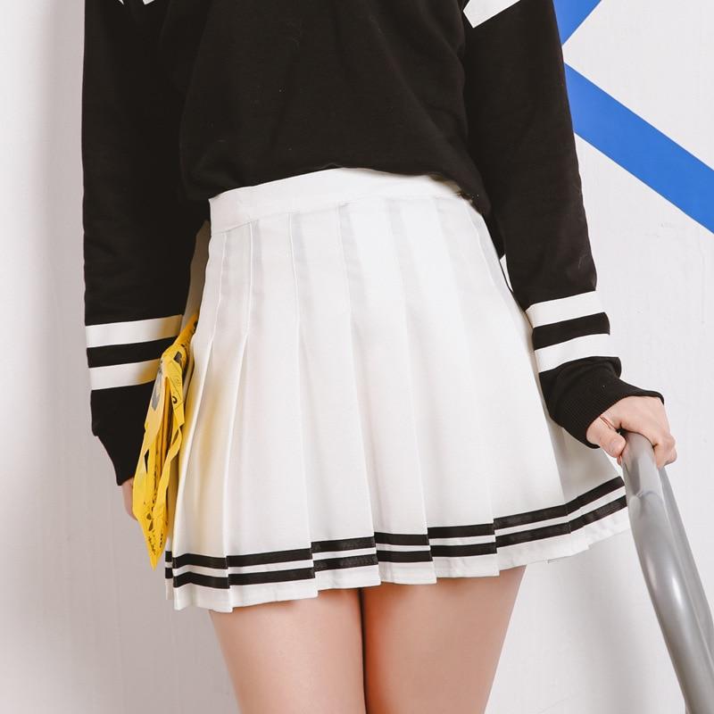8cfb31fbae 2018 Women'S Kawaii Vintage AA High Waist Pleated Skirt Female Japanese  Harajuku British Preppy Style Cute
