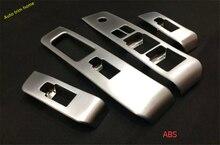 Matt style! For Nissan X-Trail X Trail 2012 2013 abs Inner Door Armrest Window Lift Button Molding Trim