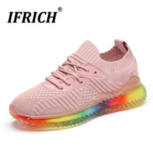 New Trend Women Jogging Shoes Pink Black Ladies Trainers Summer Sports For Girls Wearable Mesh Running