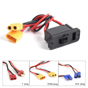 XT60 T EC3 Plug Heavy Duty Battery Harness Connector Switch for XT60 T EC3 Plug Charging Socket Extension Cable Leads Adapter t plug y wire harness female to male t plug parallel battery pack connector cable