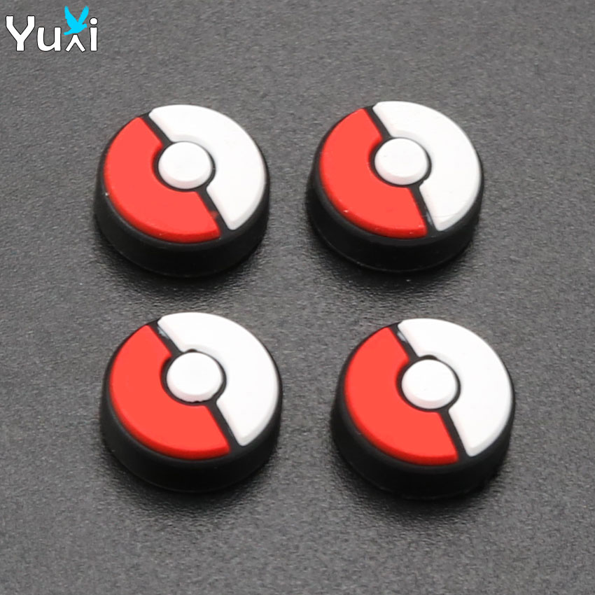 YuXi 4pcs Silicone Stick Grips Joystick Cover Case for Nintend Switch Poke Ball Plus Controller stick Cap in Replacement Parts Accessories from Consumer Electronics