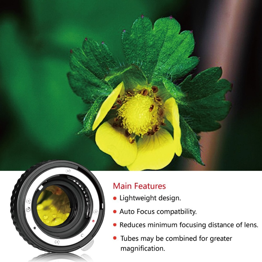 Image 4 - Meike N AF A Auto Focus Macro Extension Tube Ring for Nikon D60 D90 D3000 D3100 D3200 D5000 D5100 D5200 D7000 D7100 Camera DSLR-in Lens Adapter from Consumer Electronics