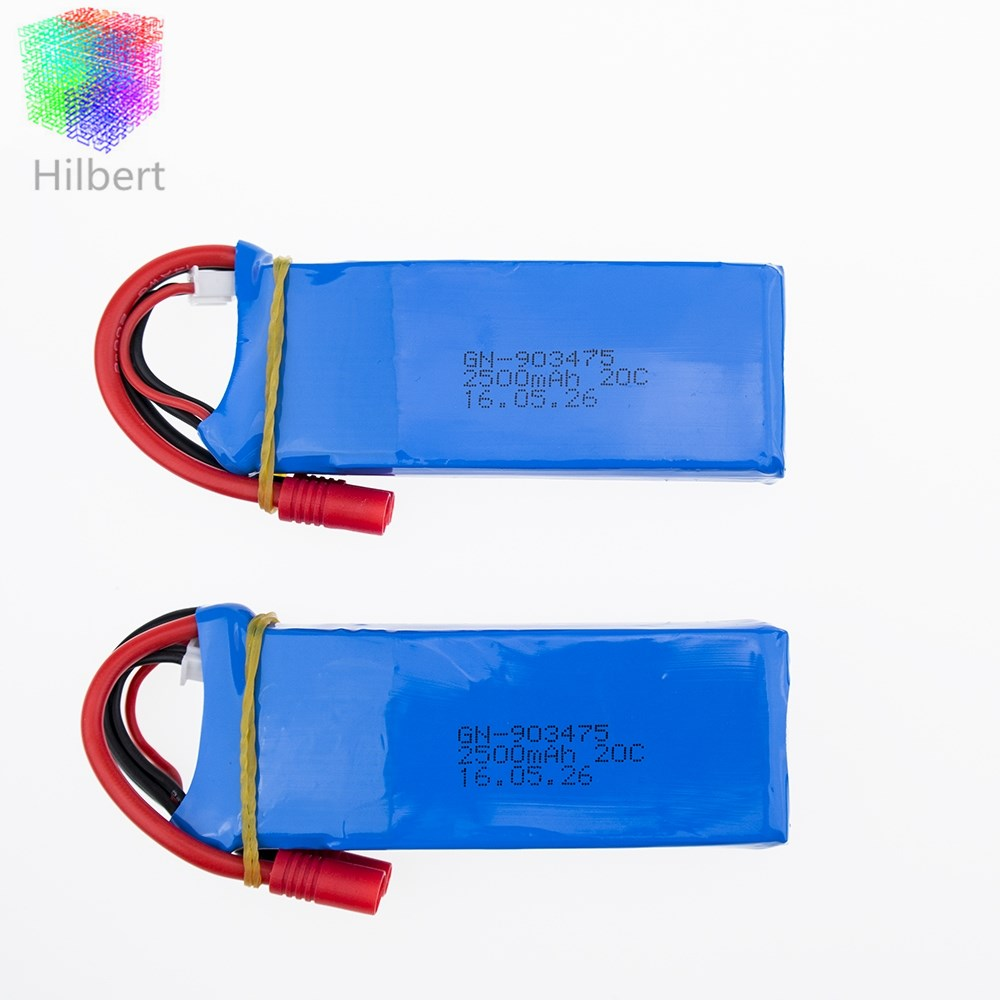 syma x8c <font><b>7.4V</b></font> <font><b>2500mah</b></font> Li-po <font><b>battery</b></font> 2 pcs/lot x8w spare part for wltoys v262 x8w x8c x8 quadcopter rc helicopter drone image