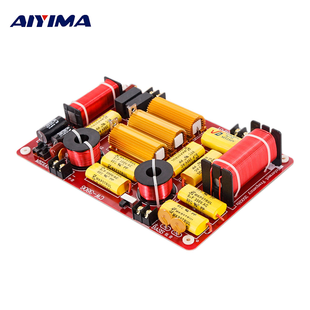 AIYIMA Speakers Frequency Divider Tweeter Midrange Subwoofer 600W 3 Way Crossover Audio HiFi Filters DIY For