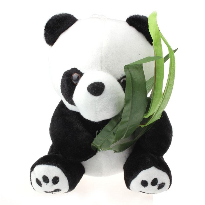 snowshine3 YLI Baby Child Cute Soft Stuffed Panda Soft Animal Doll Toy Gift 12 16 20cm Table game