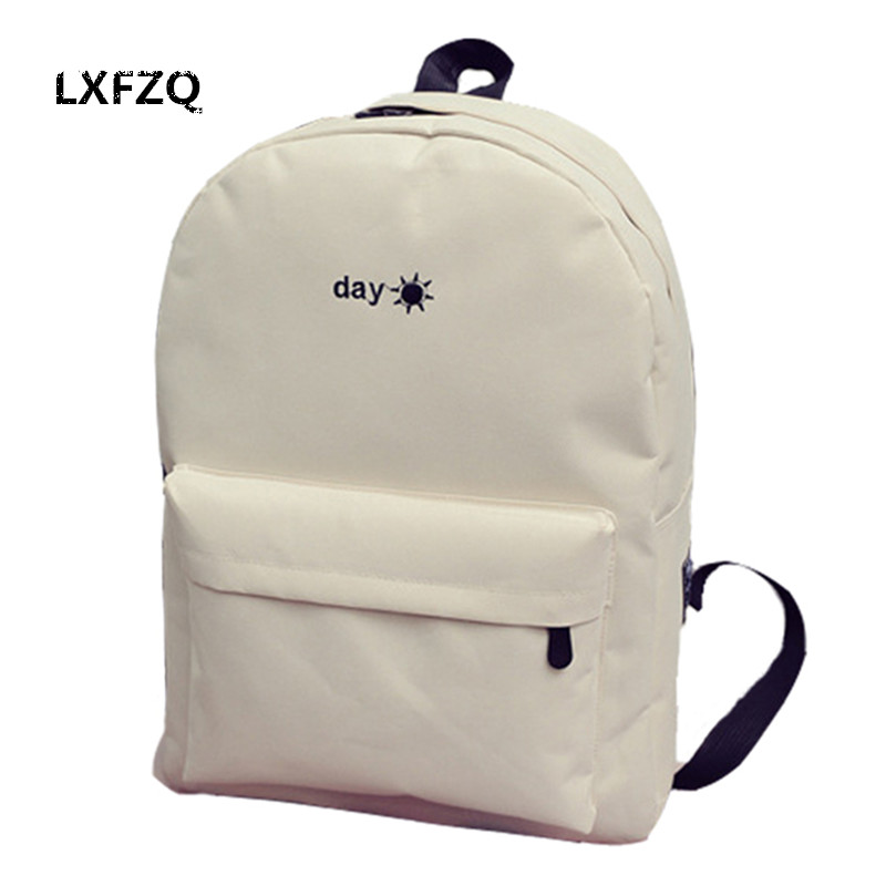 fashion Backpacks for adolescent girls canvas School backpack for boy embroidery school bags sun Children s