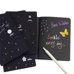 Новый альбом для зарисовок для рисования Граффити Мягкая Обложка Черный бумага эскиз книга тетрадь офисные школьные принадлежности