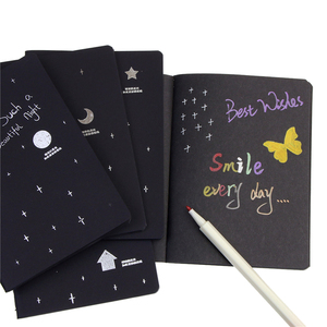 New Sketchbook Diary for Drawing Painting Graffiti Soft Cover Black Paper Sketch Book Notebook Office School Supplies Gift(China)