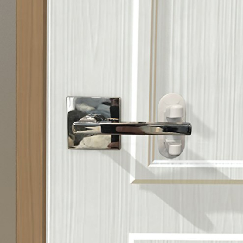 Self Adhesive Door Lever Lock Durable Baby And Child Proof