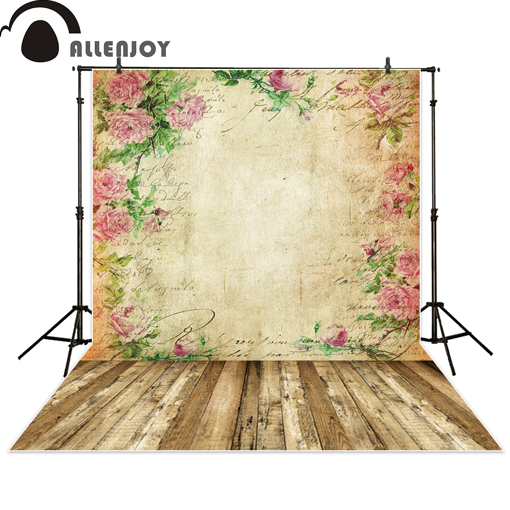 Allenjoy backgrounds for photo studio flower vintage bokeh letter wood backdrop photo studio photocall photographic