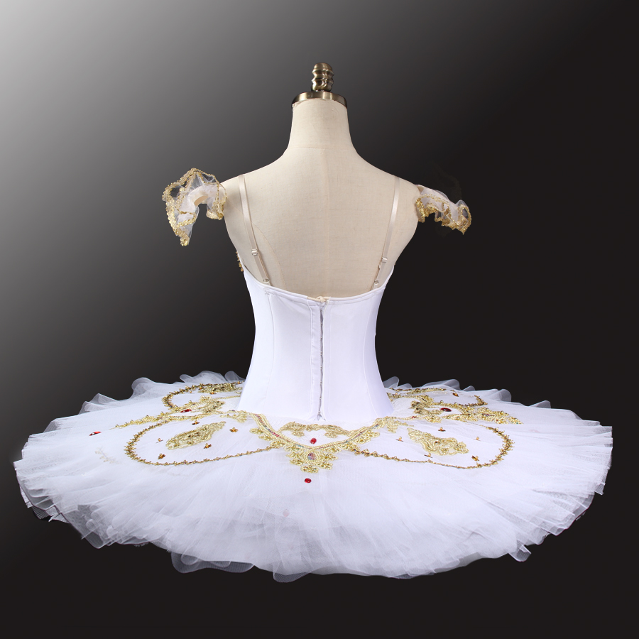 2017 New White Gold Classical Tutu Ballet Professional Costume Tutu Adult Competition Ballet Tutus Costume Adjustable LD0036 in Ballet from Novelty Special Use