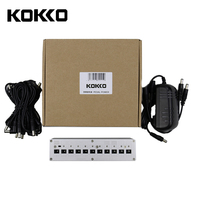 KOKKO Guitar Pedal Power Supply Compact 10ways Out 7ways 9V100ma DC 9V 10V 18V Safety Voltage