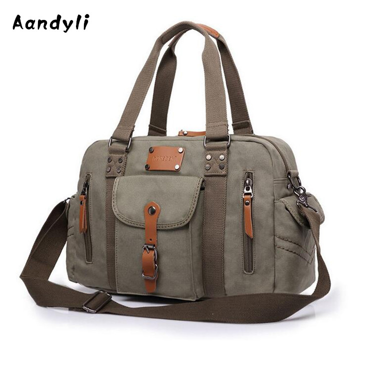 Large capacity Handbags travel Men Crossbody bags Messenger bags Europe Shoulder bag Canvas canvas leather crossbody bag men military army vintage messenger bags large shoulder bag travel bags