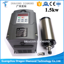 High Quality CNC Router Machine 1.5KW high speed water cooling spindle motor with HY frequency inverter motor