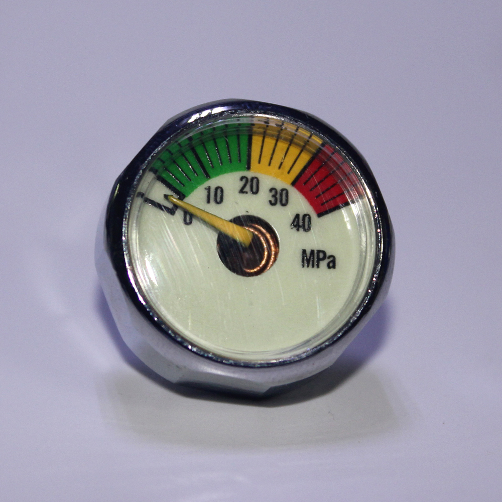 Купить с кэшбэком New Paintball Acessorios PCP Air Gun Airsoft Mini Gauge Manometer 5MPa  10MPa  20MPa  30MPa  40MPa  M10*1