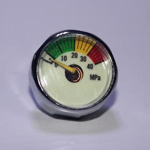 Image 5 - 새로운 paintball acessorios pcp 공기총 airsoft 소형 계기 압력계 5mpa 10mpa 20mpa 30mpa 40mpa m10 * 1