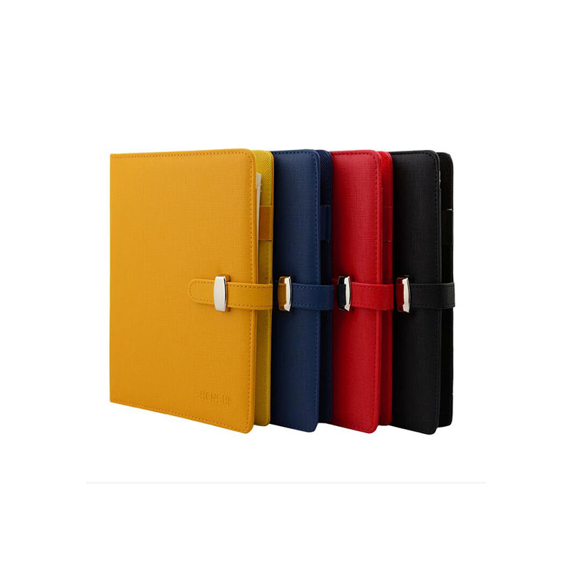 A5 Logo Name Customized Notebook Spiral Binder Metal Hasp Red Journal Planner Office Supplies Student Gift Notepad with Rings
