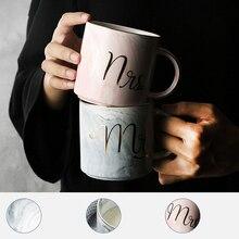 1 шт./лот, кружка MR MRS, чашка для питья молока, кофе, пара, держатель, бутылка для мраморного чая, Набор чашек, керамические стеклянные горшки для воды