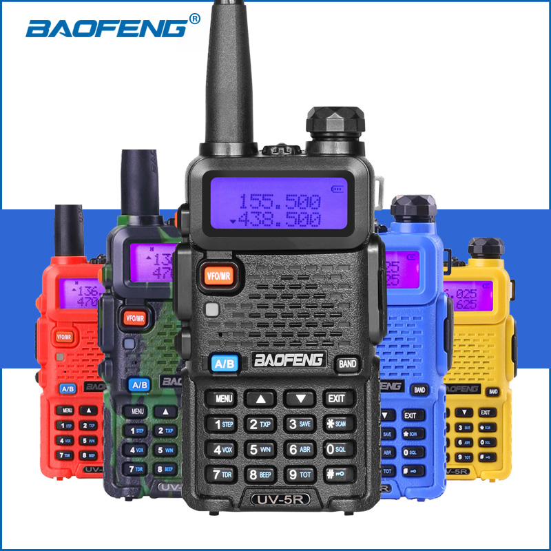 100% asli baofeng 5r uv 5r Walkie Talkie VHF UHF Dua Cara Ham Radio Transceiver uv-5r Handheld uv5r 2-Way Radio