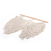 Creative home tapestry soft cotton rope woven angel wings bohemian style decoration wall hangings curtain macrame