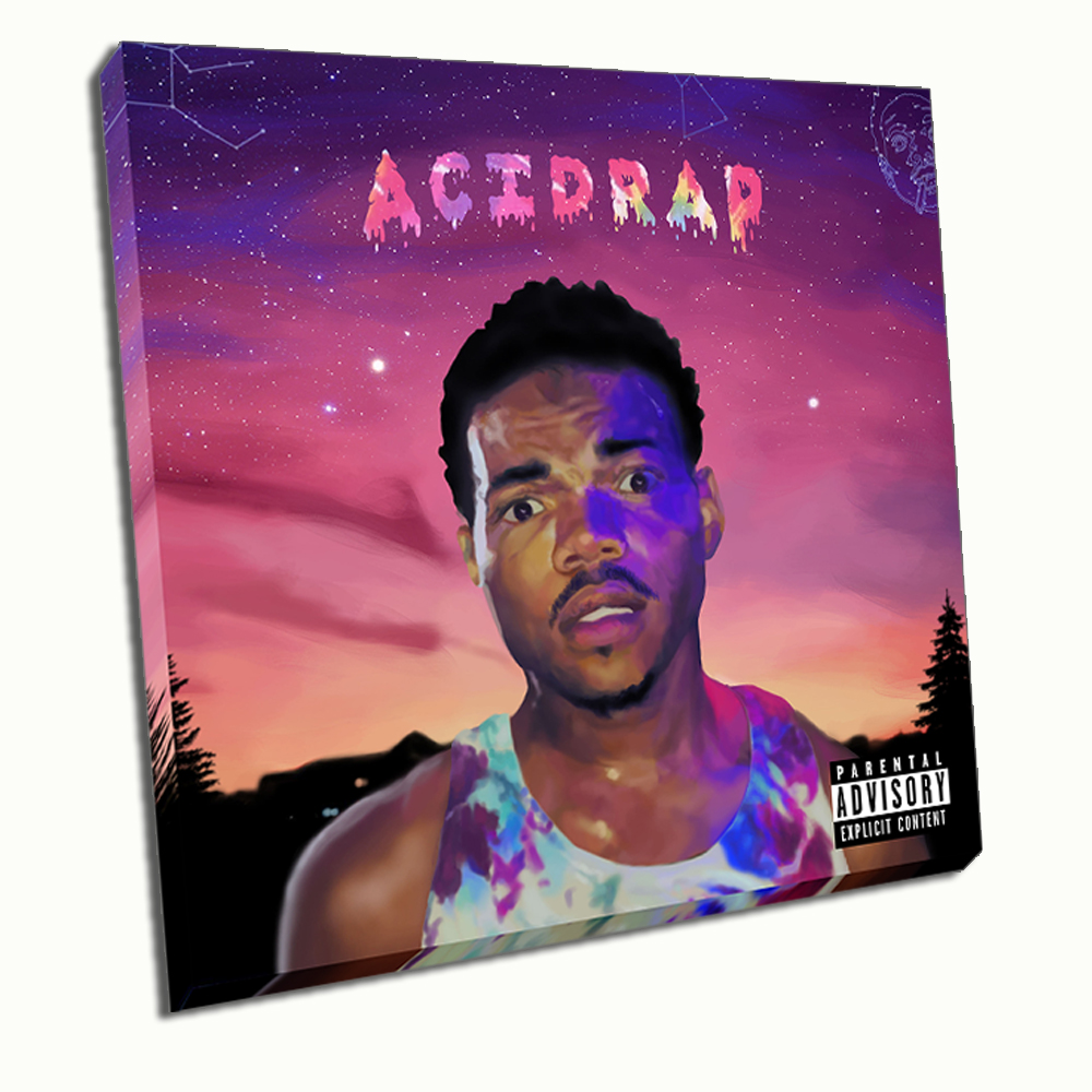 Unframed HD Print On Canvas Chance The Rapper Acid Rap Wall Pictures Art Painting Three Size 40cmx40cm In Calligraphy From Home Garden