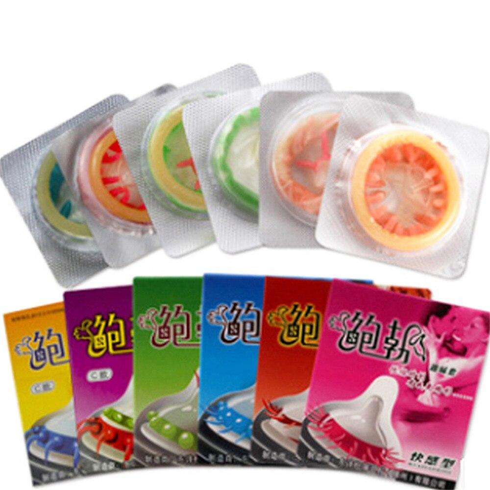 Safer Sex Gerade Zufällige Farbe 1 Pcs Kondom Für Männer Weibliche G-spot Vagina Stimulation Sicherer Verhütung Verzögerung Ejakulation Penis Sleeve Sex Produkt GroßEr Ausverkauf