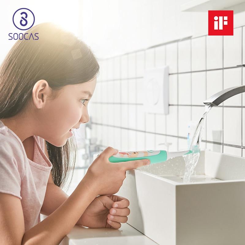 Xiaomi Soocas C1 cepillo de dientes eléctrico niños soocare bebé cepillo de dientes eléctrico sonic ultra sonic recargable cepillo de dientes