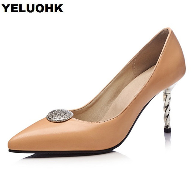ae20fc227b US $29.74 15% OFF|Large Size 43 Pointed Toe Ladies Shoes Women Sexy High  Heels Fashion Paty Shoes For Women Pumps Stiletto Heel Shoes Wedding-in ...