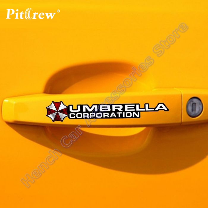 4 xCool Resident Evil The Umbrella Chronicles Personality stickers covers on car door hander decal car styling sticker