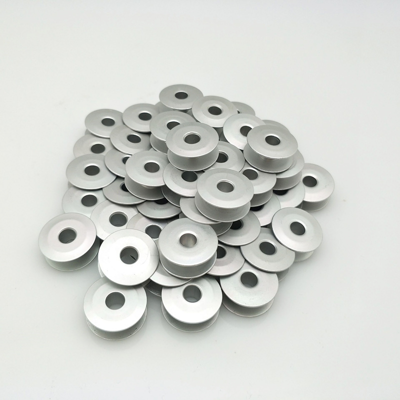 50Pc Sewing Machine Parts Bright Aluminum Bobbin #272152A ,For Juki,Brother,Jack. 5BB5461