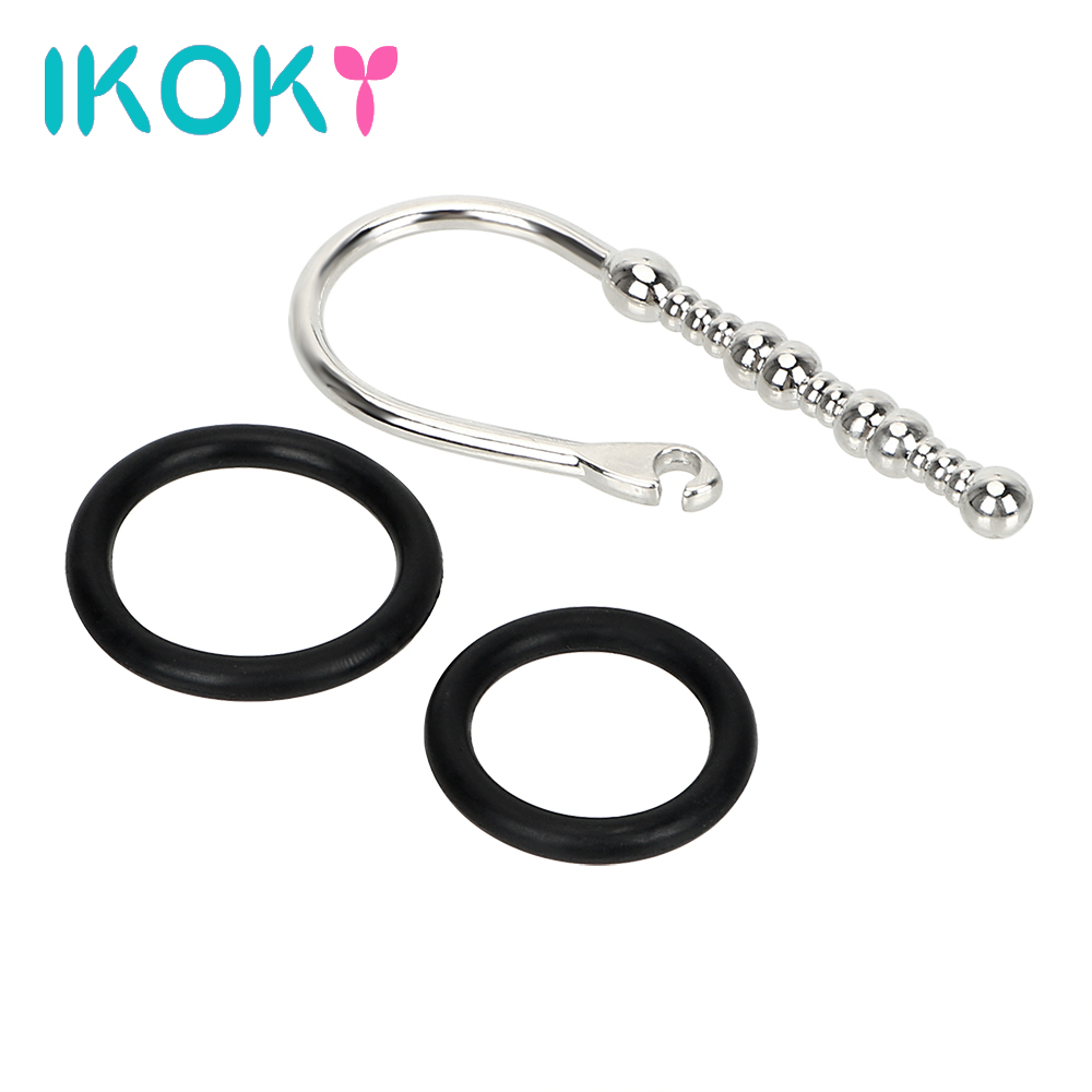 Buy IKOKY Sex Toys Men Stainless Steel Catheters Sounds Urethral Dilators Catheters  Male Chastity Device Penis Plug 3pcs/set