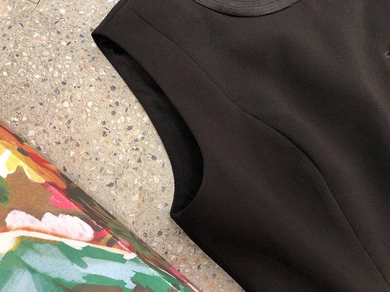 Robe De Femmes Une Manches Genou D'été Pour Soirée Ligne Noir Longueur rouge Rouge Noir Piste Sans qpE1nxUS