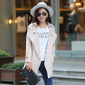 Осень и зима одежда большие размер женщины плащ пальто приталенный длинный рукав ветровка пальто манто роковой