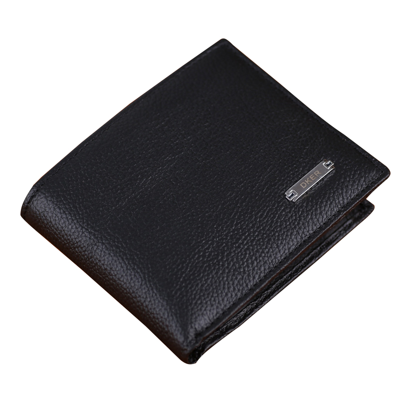 Genuine Leather Solid Bit More Cross-section Wallet Card Package Men Short Purses Large Capacity Clips Fashion Business Bags large capacity card id holders genuine leather package cluch bag new men s leather wallet fashion leisure leather wallet