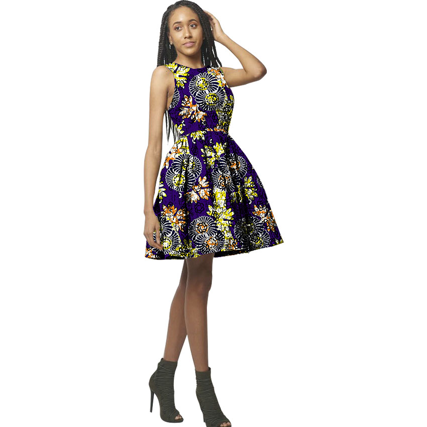 Mode Africaine Imprimer Femmes Robe Nouveau Design Africain Festive Robes Dames Costume Party Dashiki Afrique Femmes Vêtements Personnalisés